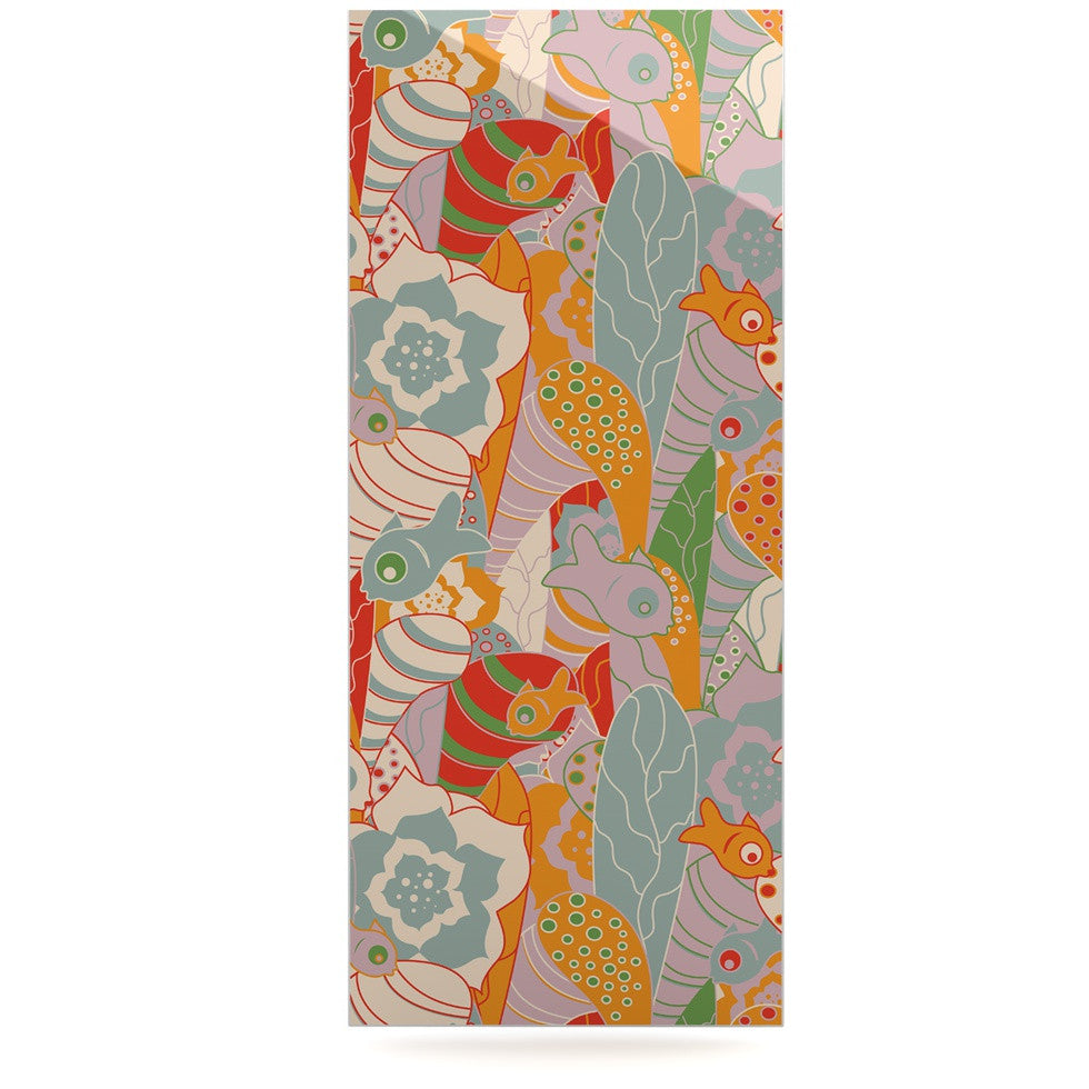 "Akwaflorell ""Fishes Here, Fishes There II"" Multicolor Luxe Rectangle Panel - KESS InHouse  - 1"