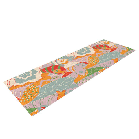 "Akwaflorell ""Fishes Here, Fishes There II"" Multicolor Yoga Mat - KESS InHouse  - 1"