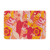 "Akwaflorell ""Fishes Here, Fishes There III"" Pink Orange Memory Foam Bath Mat - KESS InHouse"