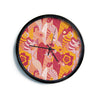 "Akwaflorell ""Fishes Here, Fishes There III"" Pink Orange Modern Wall Clock"