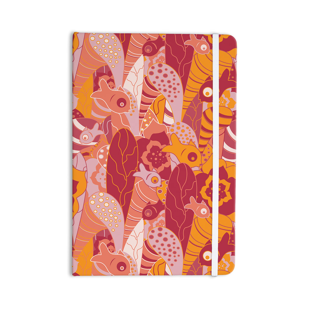 "Akwaflorell ""Fishes Here, Fishes There 3"" Pink Orange Everything Notebook - KESS InHouse  - 1"