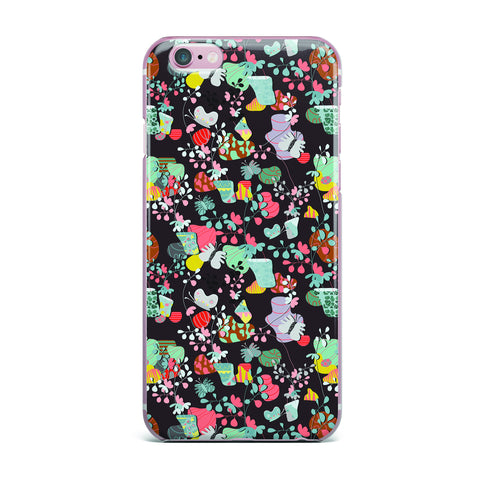 "Akwaflorell ""At Home"" Black Multicolor iPhone Case - KESS InHouse"