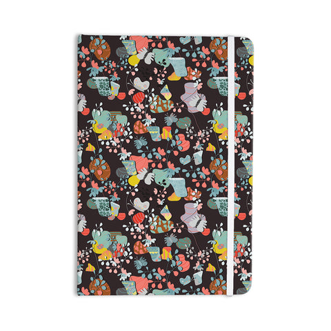 "Akwaflorell ""At Home"" Black Multicolor Everything Notebook - KESS InHouse  - 1"
