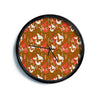 "Akwaflorell ""Mermaids"" Brown Red Modern Wall Clock"