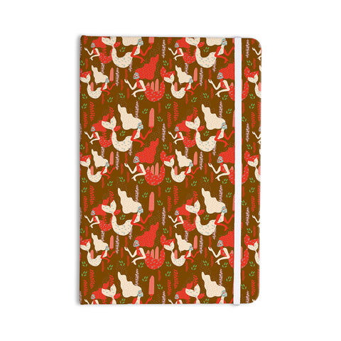 "Akwaflorell ""Mermaids"" Brown Red Everything Notebook - KESS InHouse  - 1"