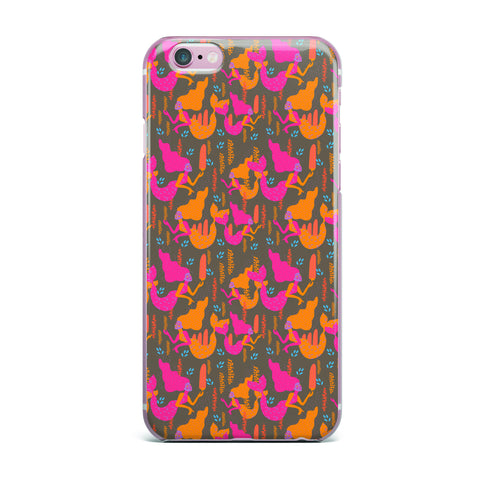 "Akwaflorell ""Mermaids II"" Pink Orange iPhone Case - KESS InHouse"