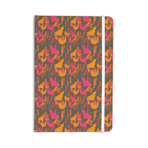 "Akwaflorell ""Mermaids II"" Pink Orange Everything Notebook - KESS InHouse  - 1"