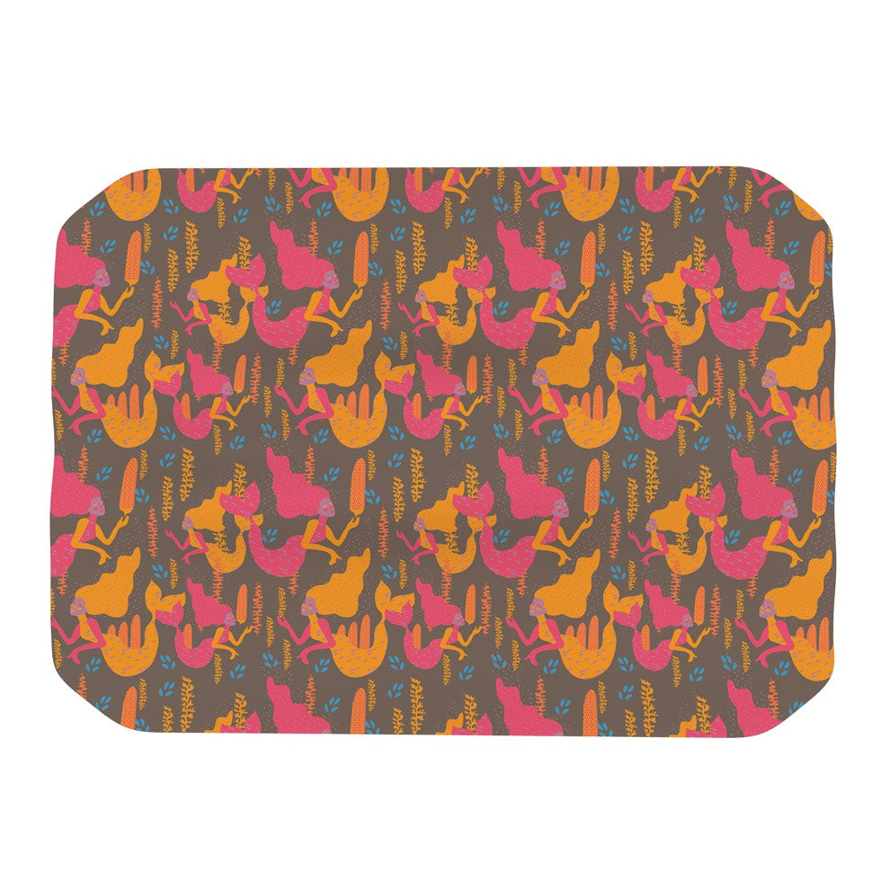 "Akwaflorell ""Mermaids II"" Pink Orange Place Mat - KESS InHouse"