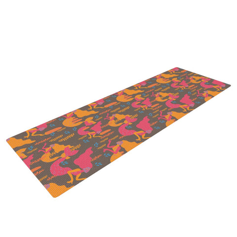 "Akwaflorell ""Mermaids II"" Pink Orange Yoga Mat - KESS InHouse  - 1"
