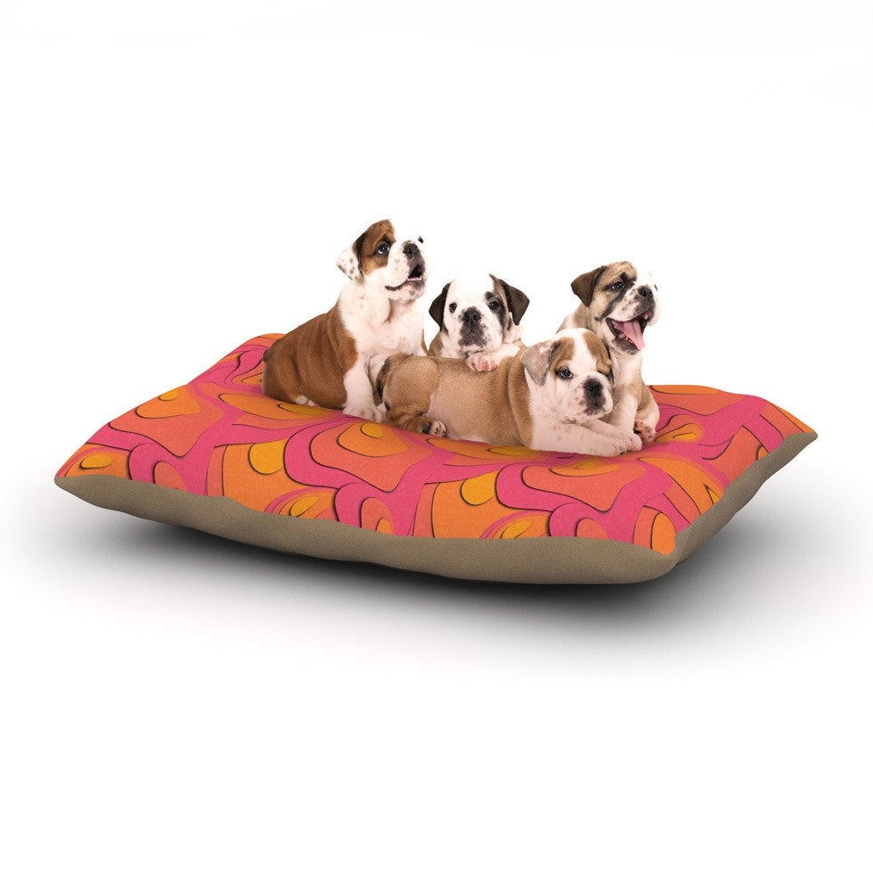 "Akwaflorell ""Fly Away Sadness"" Abstract Pink Dog Bed - KESS InHouse  - 1"