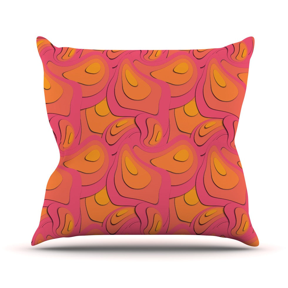 "Akwaflorell ""Fly Away Sadness"" Abstract Pink Throw Pillow - KESS InHouse  - 1"