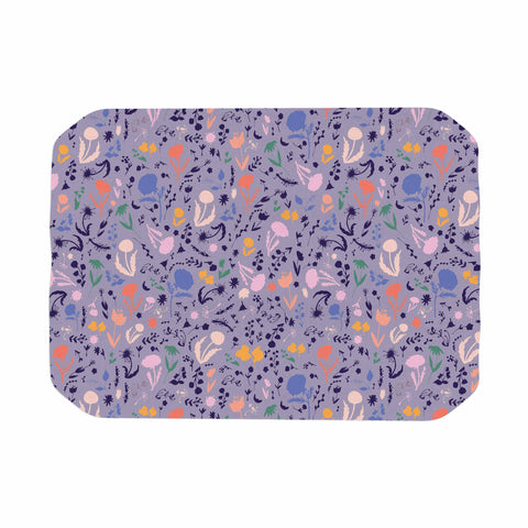 "Akwaflorell ""Pretty Little Flowers4"" Lavender Multicolor Illustration Place Mat"