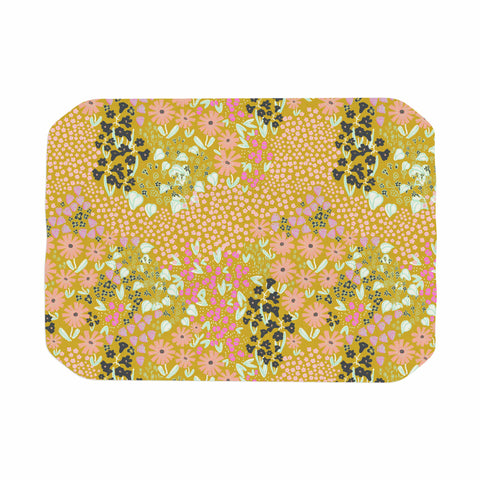 "Akwaflorell ""Colorful Garden2"" Coral Pastel Illustration Place Mat"