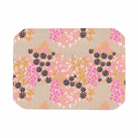 "Akwaflorell ""Colorful Garden"" Coral Multicolor Illustration Place Mat"