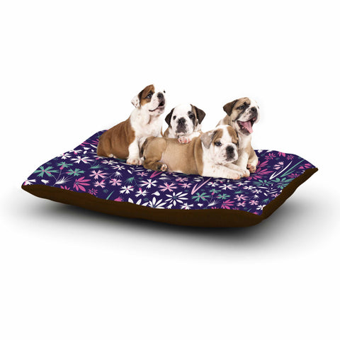 "Akwaflorell ""Meadow3"" Purple Lavender Vector Dog Bed"
