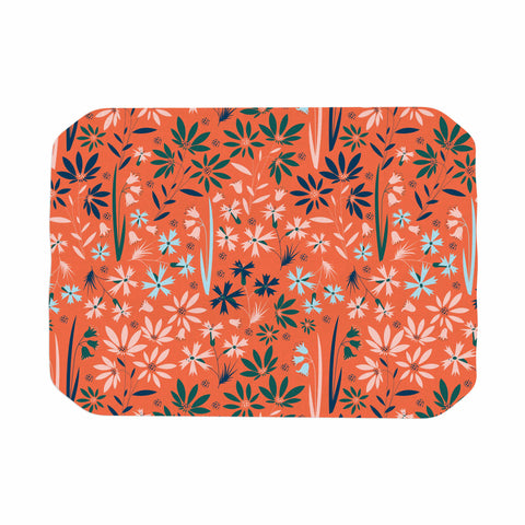"Akwaflorell ""Meadow"" Coral Pink Digital Place Mat"