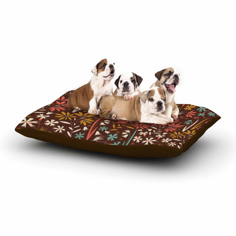 "Akwaflorell ""Sunny Meadow"" Brown Multicolor Vector Dog Bed"