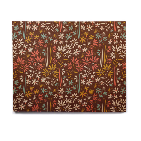 "Akwaflorell ""Sunny Meadow"" Brown Multicolor Vector Birchwood Wall Art"