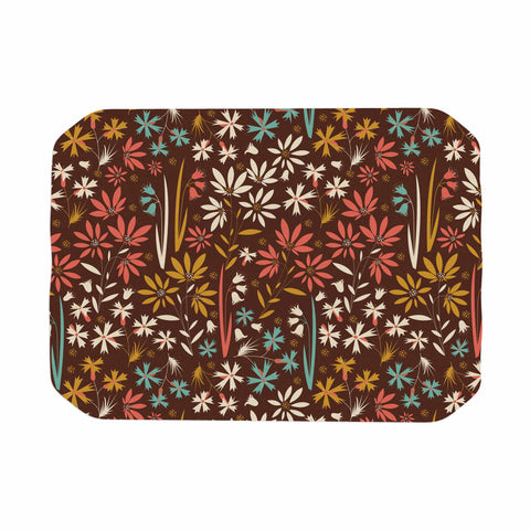 "Akwaflorell ""Sunny Meadow"" Brown Multicolor Vector Place Mat"