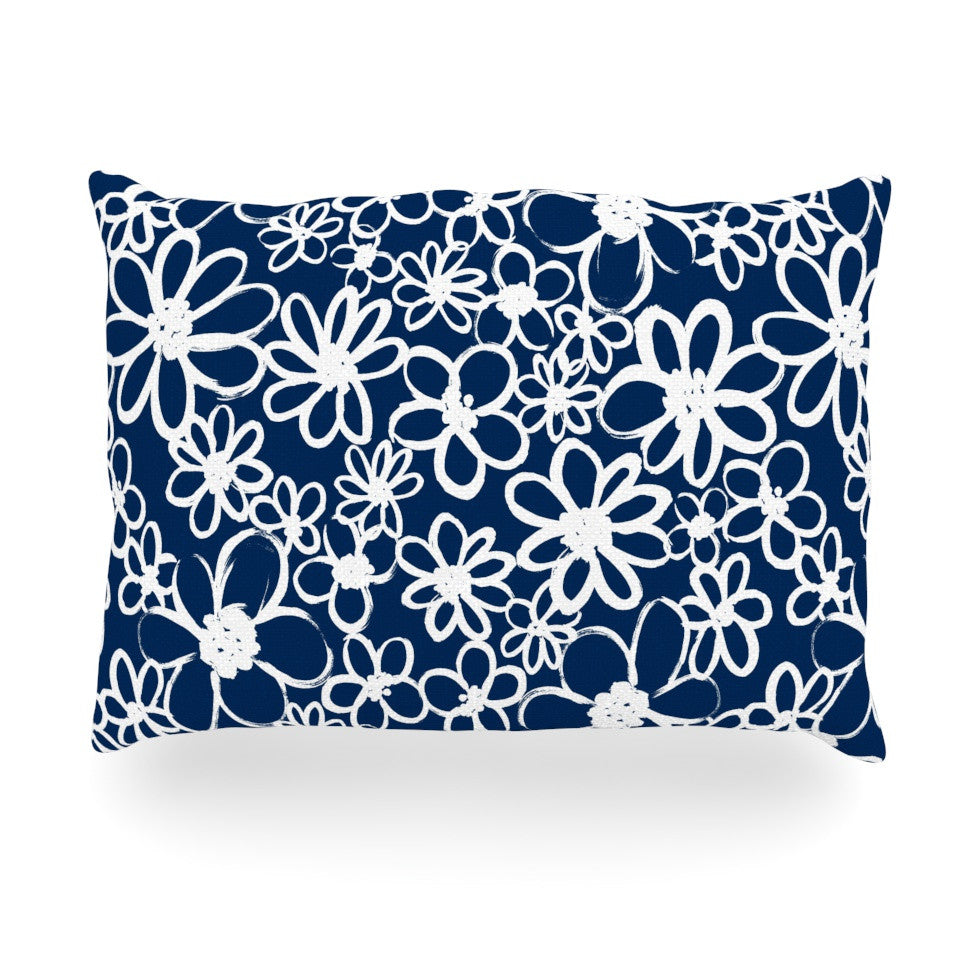 "Emine Ortega ""Daisy Lane"" Oblong Pillow - KESS InHouse"