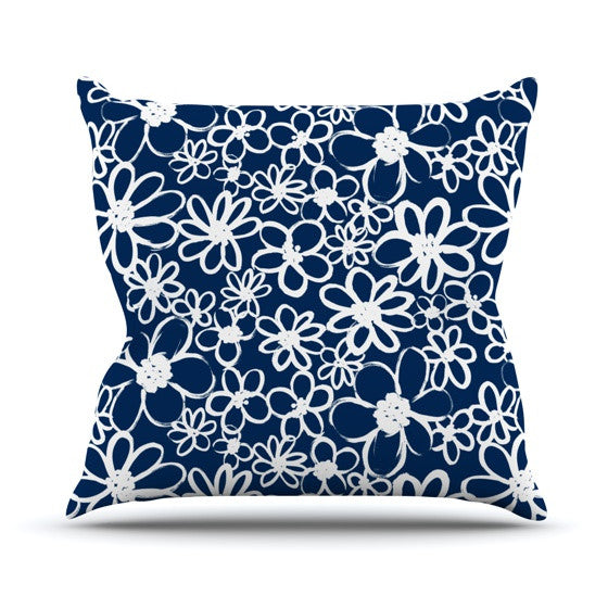 "Emine Ortega ""Daisy Lane"" Outdoor Throw Pillow - KESS InHouse  - 1"