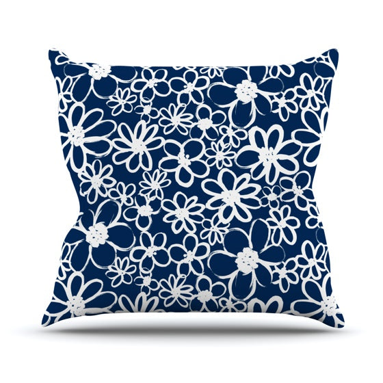 "Emine Ortega ""Daisy Lane"" Throw Pillow - KESS InHouse  - 1"