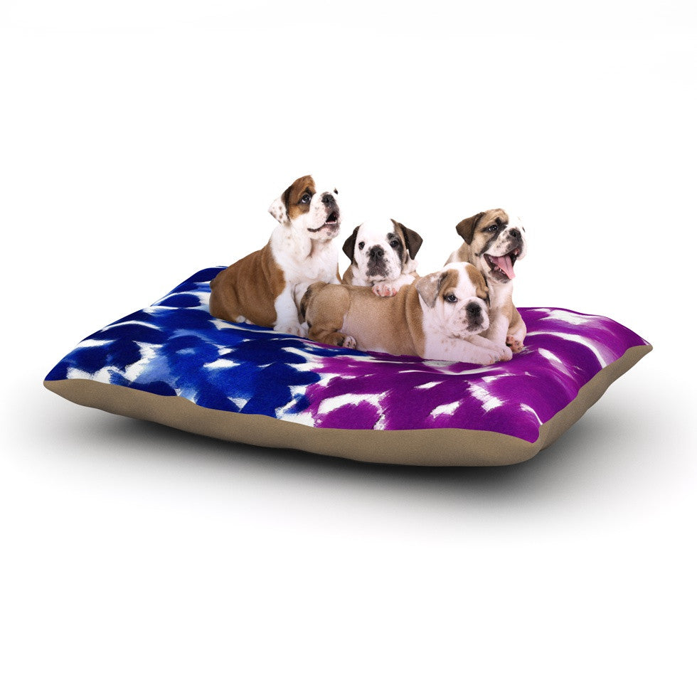 "Emine Ortega ""Fleeting Blue"" Dog Bed - KESS InHouse  - 1"