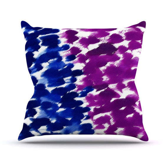 "Emine Ortega ""Fleeting Blue"" Throw Pillow - KESS InHouse  - 1"