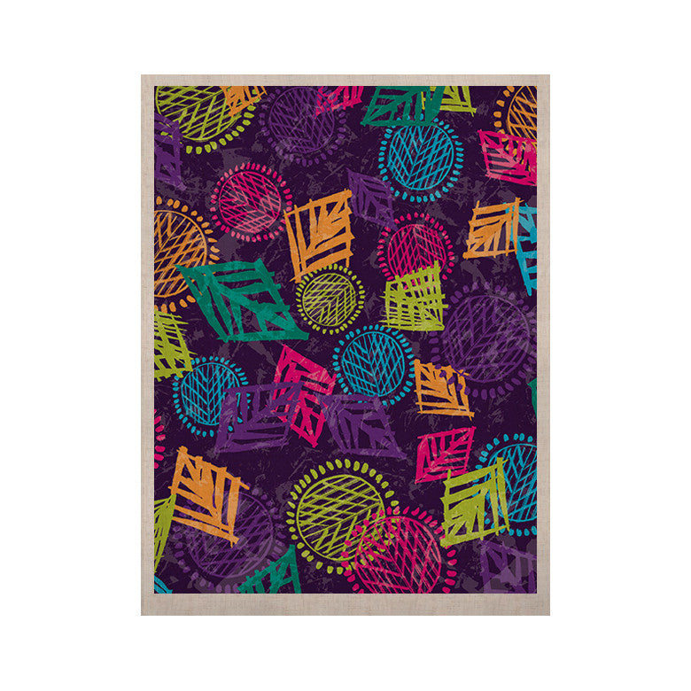 "Emine Ortega ""African Beat Purple"" KESS Naturals Canvas (Frame not Included) - KESS InHouse  - 1"