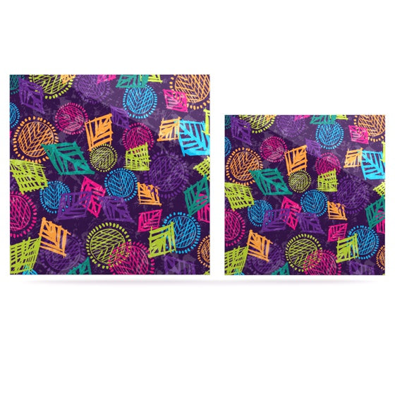"Emine Ortega ""African Beat Purple"" Luxe Square Panel - KESS InHouse"