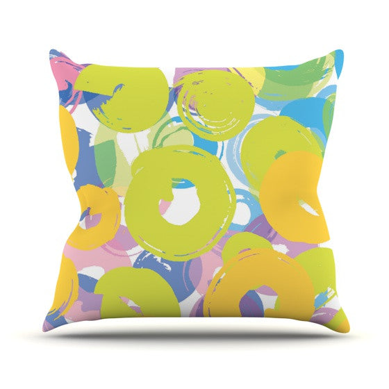 "Emine Ortega ""Circle Me"" Outdoor Throw Pillow - KESS InHouse  - 1"