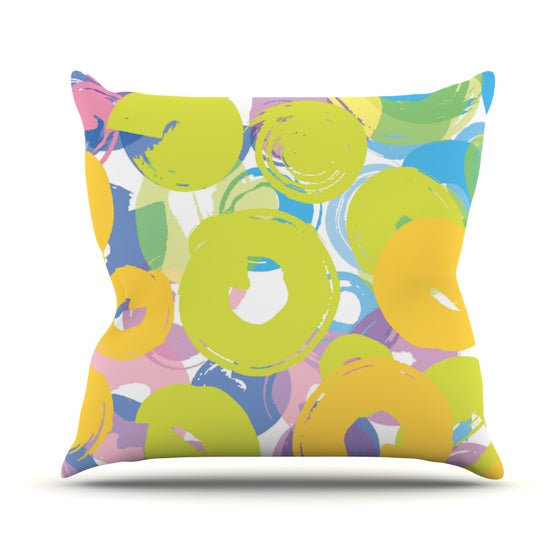 "Emine Ortega ""Circle Me"" Throw Pillow - KESS InHouse  - 1"