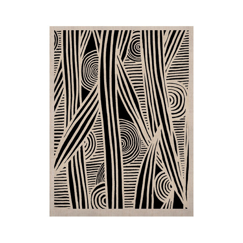 "Emine Ortega ""Graphique Black"" KESS Naturals Canvas (Frame not Included) - KESS InHouse  - 1"