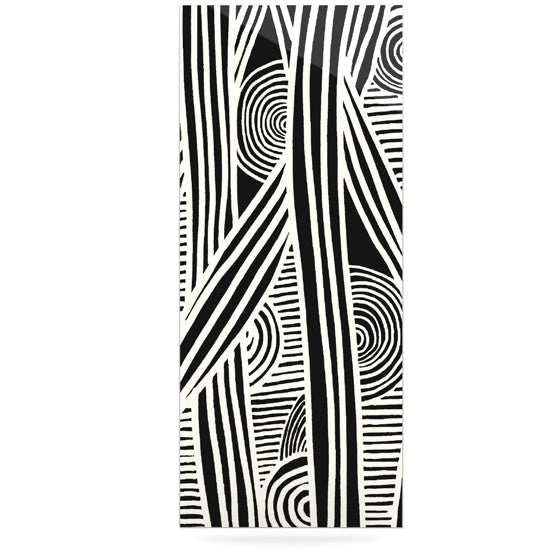 "Emine Ortega ""Graphique Black"" Luxe Rectangle Panel - KESS InHouse  - 1"