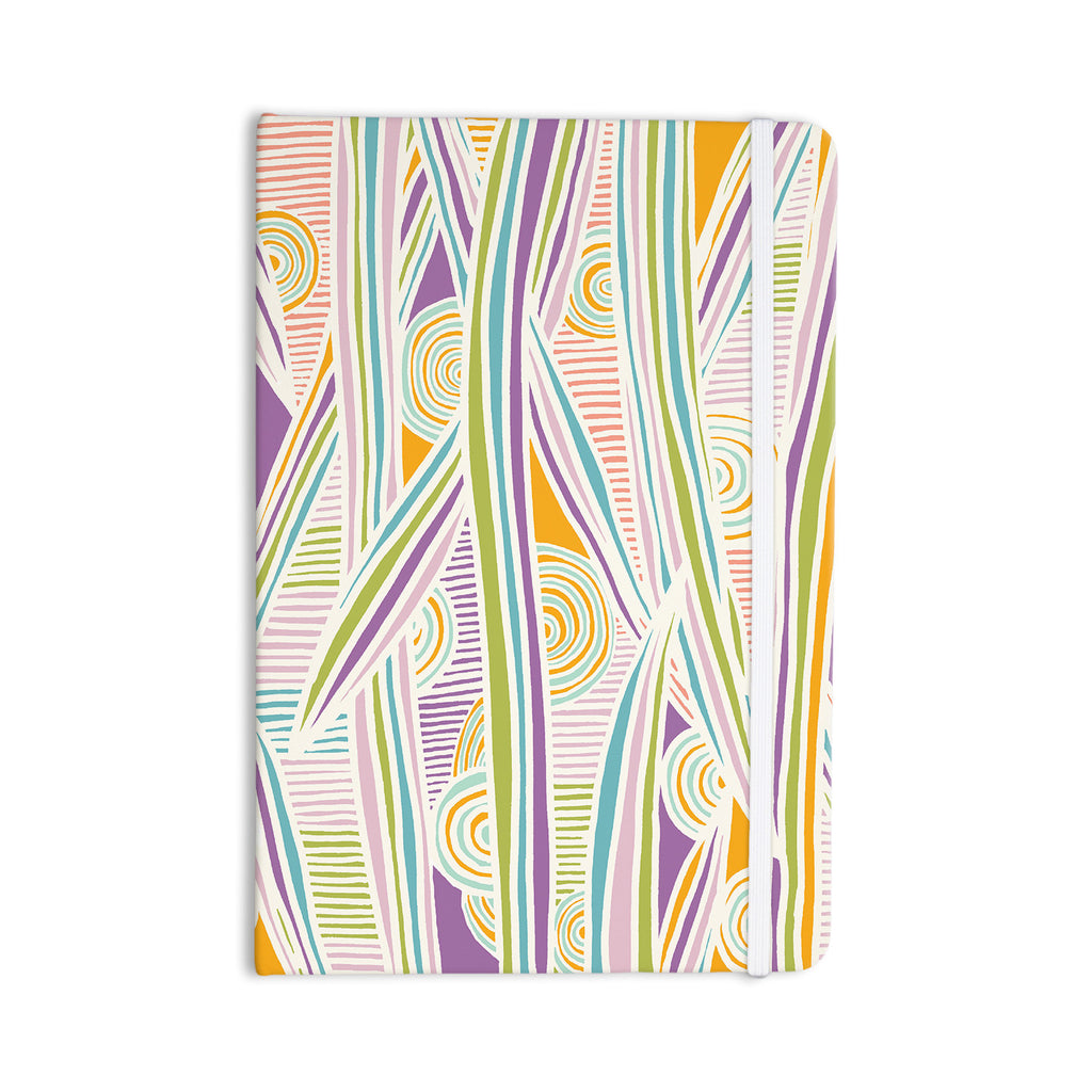 "Emine Ortega ""Graphique White"" Everything Notebook - KESS InHouse  - 1"