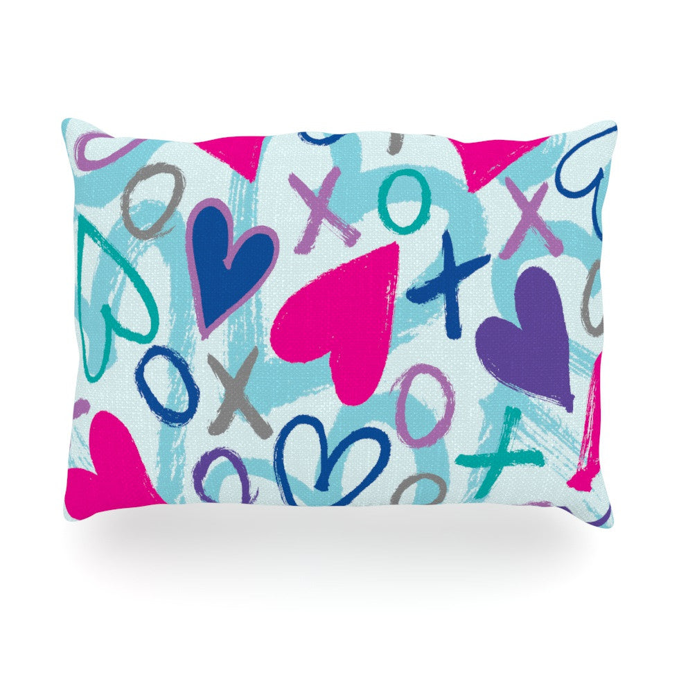 "Emine Ortega ""Hearts a Flutter"" Oblong Pillow - KESS InHouse"