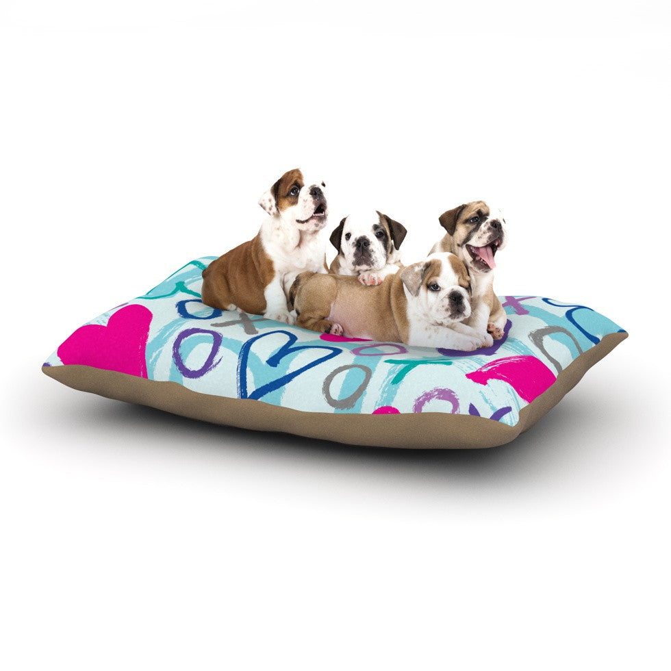 "Emine Ortega ""Hearts a Flutter"" Dog Bed - KESS InHouse  - 1"
