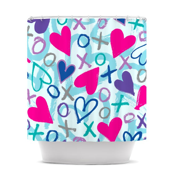 "Emine Ortega ""Hearts a Flutter"" Shower Curtain - KESS InHouse"