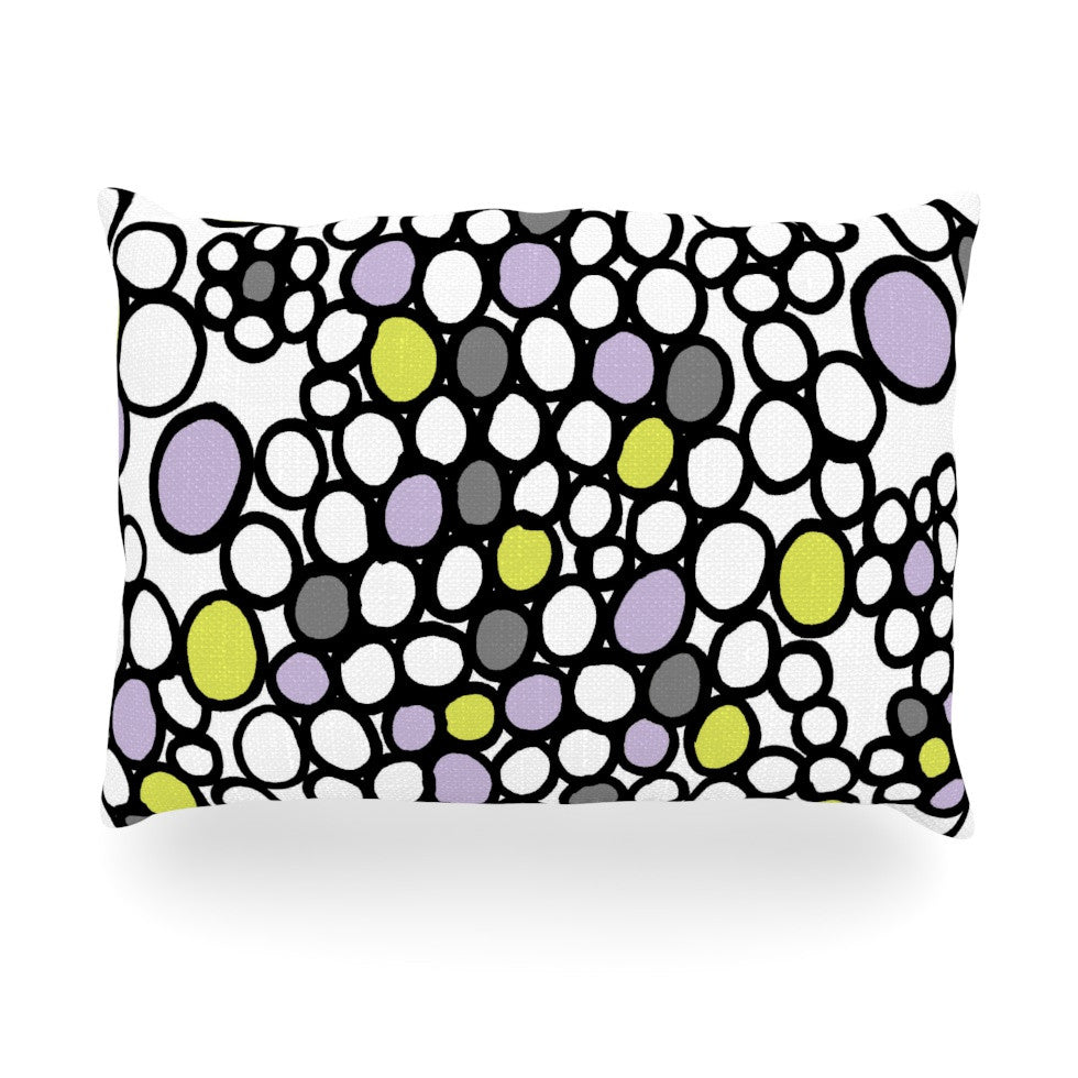 "Emine Ortega ""Pebbles Lilac"" Oblong Pillow - KESS InHouse"