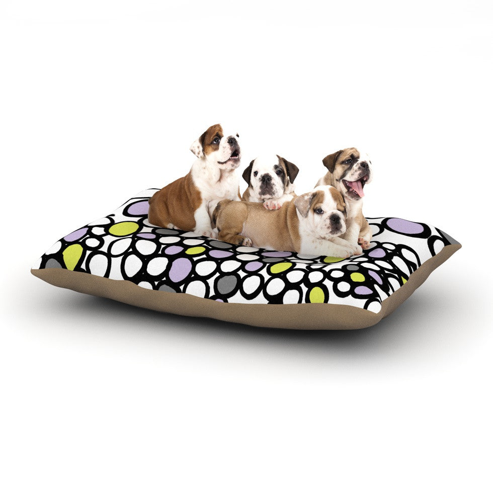 "Emine Ortega ""Pebbles Lilac"" Dog Bed - KESS InHouse  - 1"