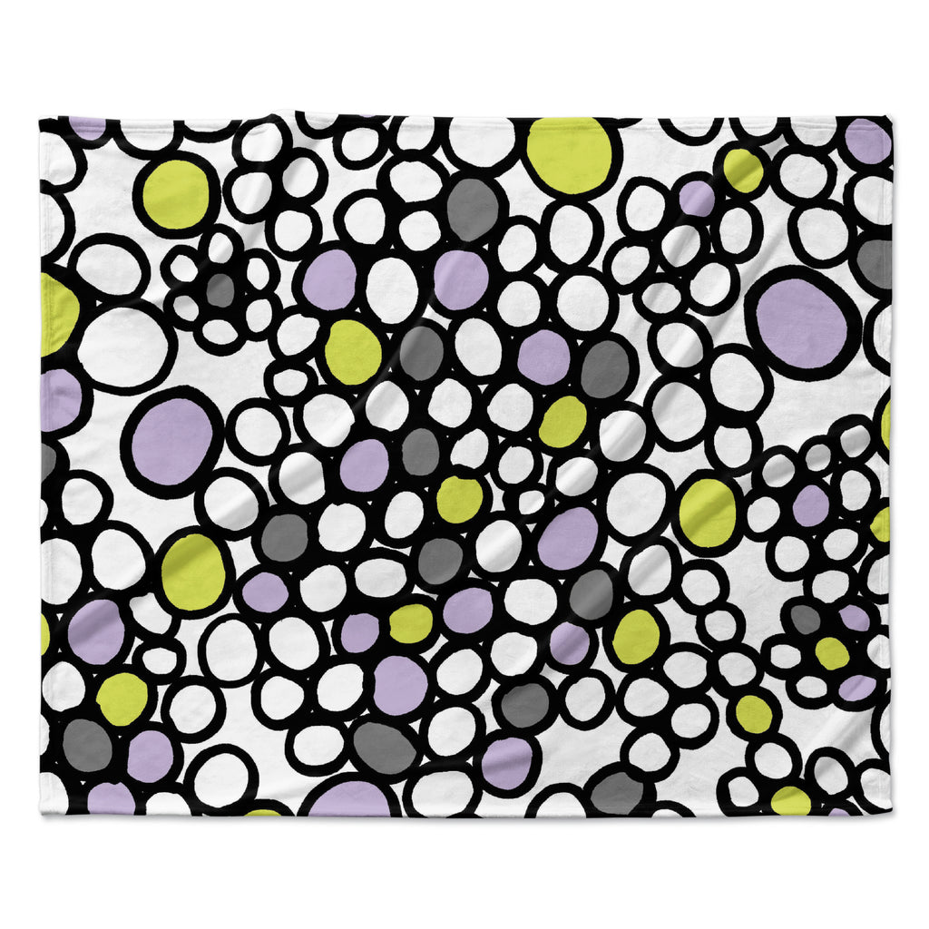 "Emine Ortega ""Pebbles Lilac"" Fleece Throw Blanket"