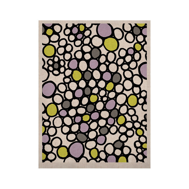 "Emine Ortega ""Pebbles Lilac"" KESS Naturals Canvas (Frame not Included) - KESS InHouse  - 1"