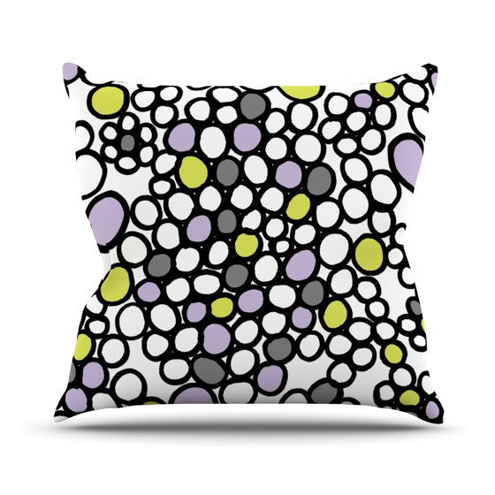 "Emine Ortega ""Pebbles Lilac"" Outdoor Throw Pillow - KESS InHouse  - 1"