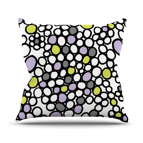 "Emine Ortega ""Pebbles Lilac"" Throw Pillow - KESS InHouse  - 1"