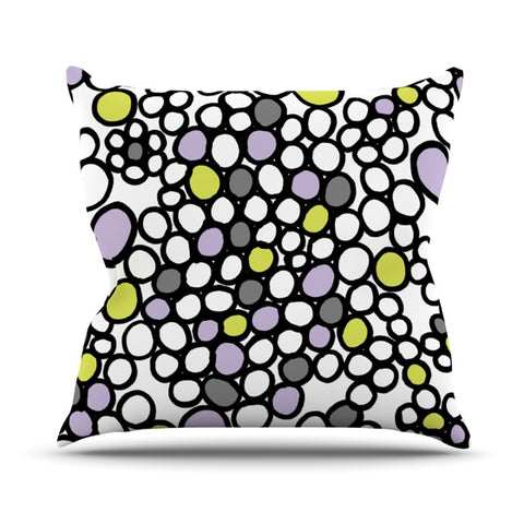 "Emine Ortega ""Pebbles Lilac"" Outdoor Throw Pillow - Outlet Item"