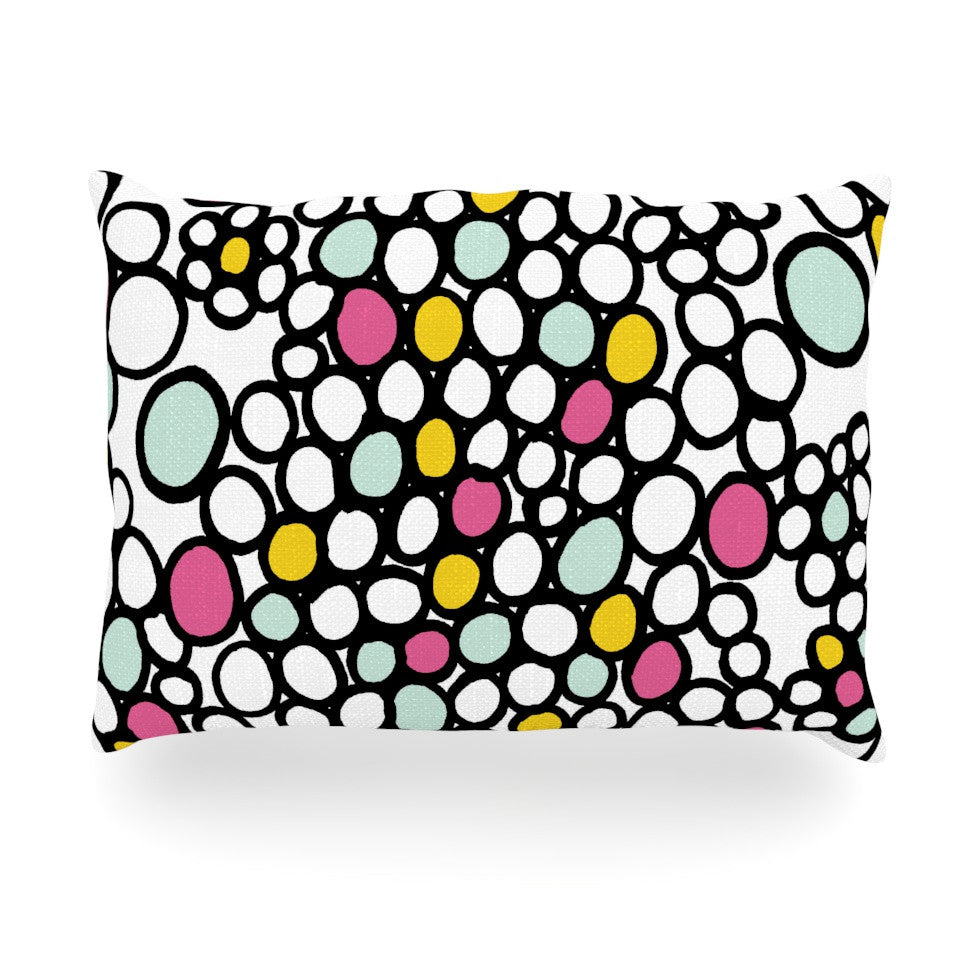 "Emine Ortega ""Pebbles Pink"" Oblong Pillow - KESS InHouse"