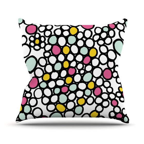 "Emine Ortega ""Pebbles Pink"" Throw Pillow - KESS InHouse  - 1"