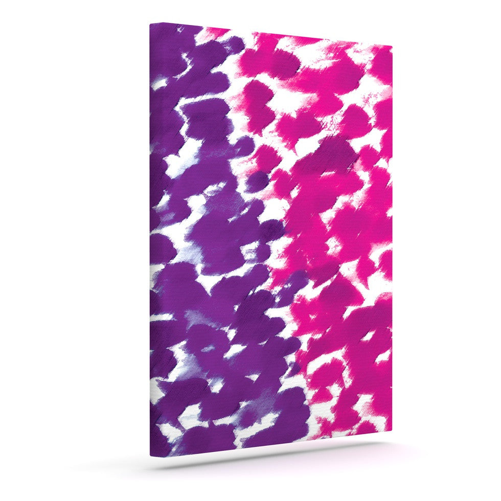 "Emine Ortega ""Fleeting Purple"" Outdoor Canvas Wall Art - KESS InHouse  - 1"