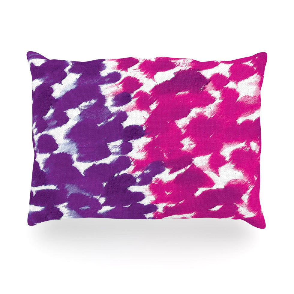 "Emine Ortega ""Fleeting Purple"" Oblong Pillow - KESS InHouse"