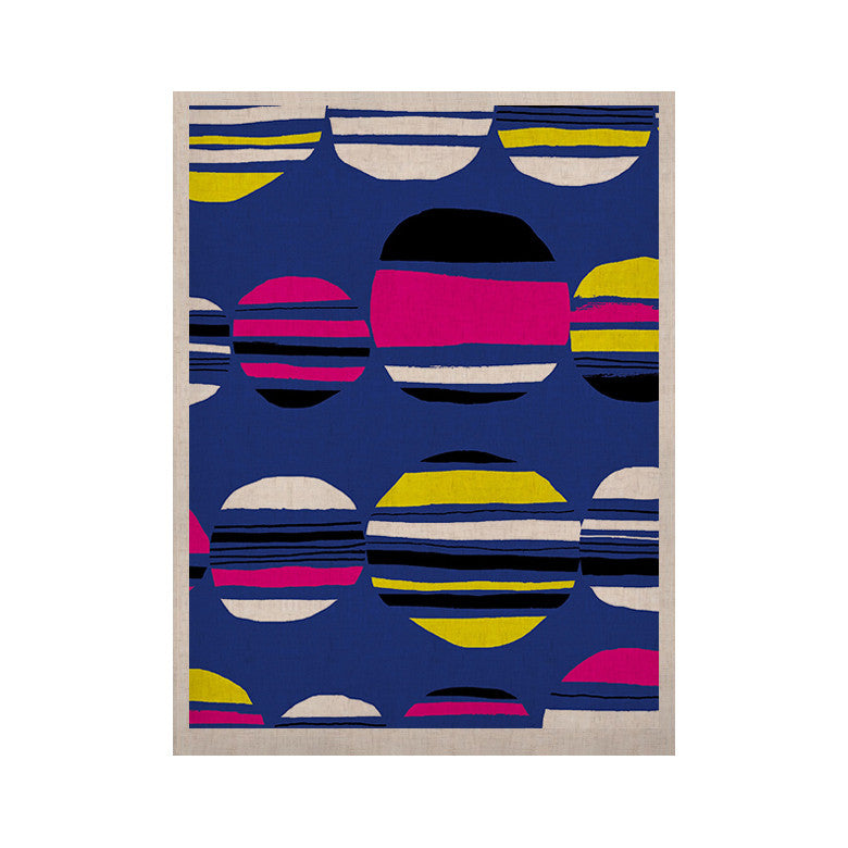 "Emine Ortega ""Retro Circles Cobalt"" KESS Naturals Canvas (Frame not Included) - KESS InHouse  - 1"
